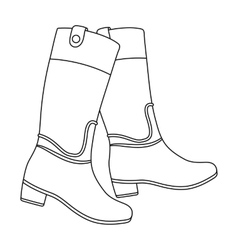Jockey s high boots icon in outline style isolated vector