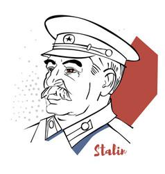 Joseph stalin portrait vector