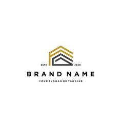 Letter fg home design logo concept vector