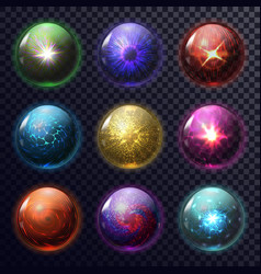 magic spheres or balls for future prediction orb vector image