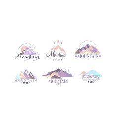 mountain original logo design templates collection vector image