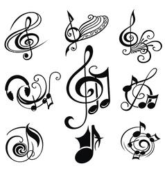 Musical Design Elements Set vector