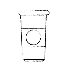 Paper coffee cup portable fresh beverage break vector