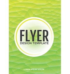 Pastel modern green polygonal brochure flyer vector image