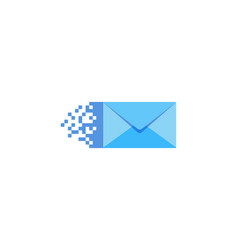 pixel mail logo icon design vector image