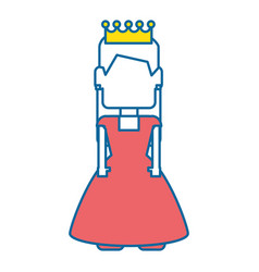 pixelated princess avatar game vector image