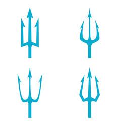 Poseidon s trident set vector