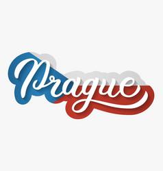 Prague hand lettering vector
