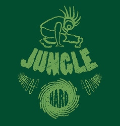 Ragga jungle t-shirt music vector
