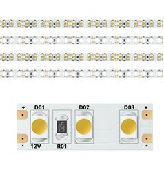 Realistic 12v led light strip vector