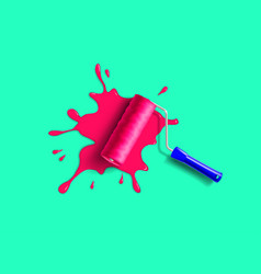 roller brush splash vector image