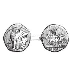 Roman Coin vintage engraving vector image