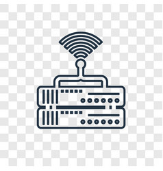 router concept linear icon isolated on vector image
