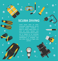 scuba diving background in a flat style vector image