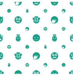 Smiley icons pattern seamless white background vector