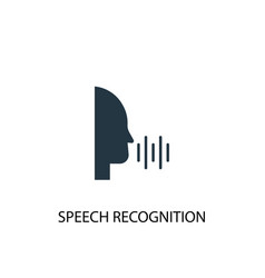 speech recognition icon simple element vector image