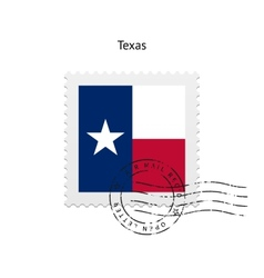 State of Texas flag postage stamp vector
