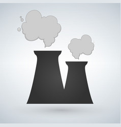 Stock of nuclear power plant in flat style power vector