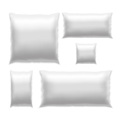 Template White Blank Pillow Set vector image