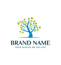 Tree and tooth logo design template vector