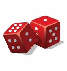 two dice vector image