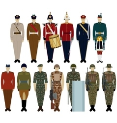 Uniforms of the British Army vector