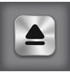 Up arrow icon - metal app button vector image