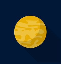 venus planet icon flat style vector image