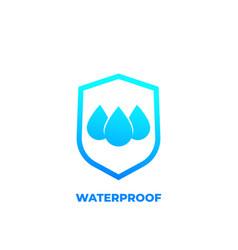 Waterproof icon water resistant vector