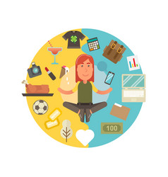 Worklife balance vector