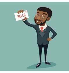 African Businessman Character Presentation vector image vector image