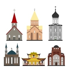churches of different religions vector image