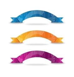 Color ribbon set vector image vector image