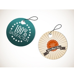 Old round retro vintage grunge tags vector image vector image