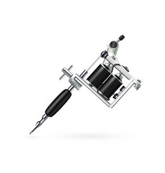 realistic tattoo machine vector image vector image