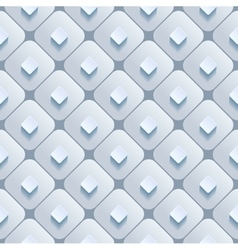 Abstract 3d geometric background White seamless vector image vector image