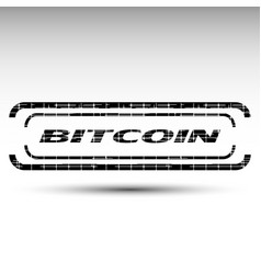 of bitcoin emblem vector image