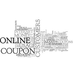 what you should know about your online coupons vector image vector image