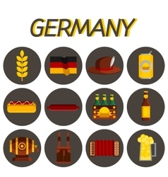 Germany flat icon set vector image vector image