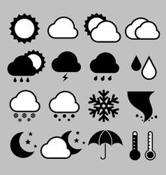 Icon set of weather eps 10 vector image