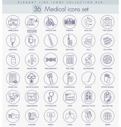 medical outline icon set Elegant thin line vector image vector image