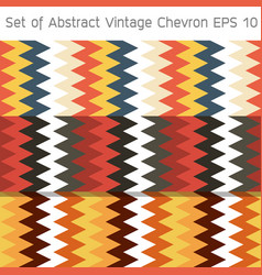 set of abstract vintage chevron background eps10 vector image