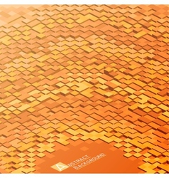 Abstract background with orange square blocks vector image vector image