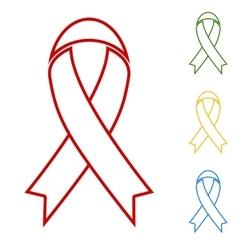 Black awareness ribbon Hand vector image vector image