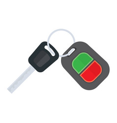 car keys on a white background vector image vector image