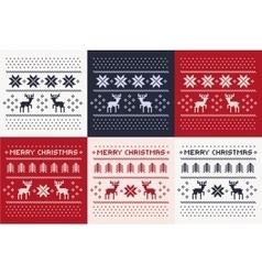 Christmas winter pattern print set vector