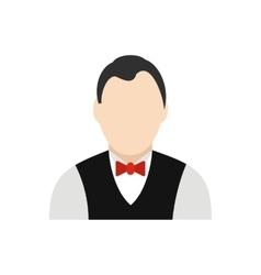 Croupier flat icon vector image