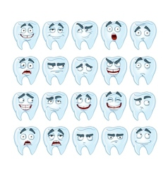 cute smile healthy teeth with different emotions vector image vector image