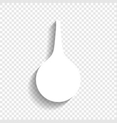 Enema sign white icon with soft shadow on vector