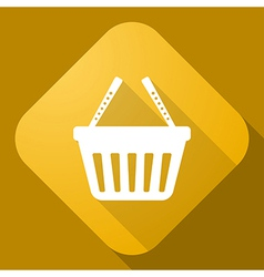 icon of Shopping cart with a long shadow vector image
